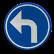 Verkeersbord België D01b - Verplichting de door de pijl aangeduide richting te volgen