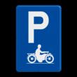 Verkeersbord België E09i - Parkeren uitsluitend voor motorfietsen
