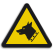 Waarschuwingsbord W013 - Gevaar voor waakhond