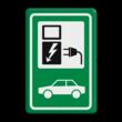 Verkeersbord gelijkend BW101_SP19 groen-wit - auto laadpunt