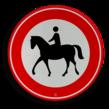 Verkeersbord RVV C01 - ruiters