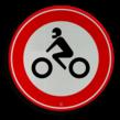 Verkeersbord RVV C11 - Gesloten voor motorfietsen