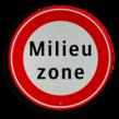 Verkeersbord RVV C22a milieuzone - Begin milieuzone