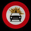 Verkeersbord België C24b - Verboden toegang voor bestuurders van voertuigen die gevaarlijke ontvlambare of ontplofbare stoffen vervoeren.