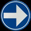 Verkeersbord België D01b-rechts - Verplicht rechts afslaan