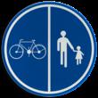 Verkeersbord België D09a - Deel van de weg voorbehouden voor voetgangers en fietsen