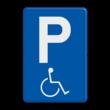 Verkeersbord België E09a - Parkeren mindervaliden toegelaten