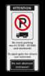 Verkeersbord ARD E201 + tekstregels - Engels