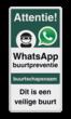 WhatsApp Attentie Buurtpreventie Informatiebord 06 - L209wa-g
