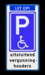 Parkeerbord E06 minder validen E06 - uitsluitend vergunninghouders