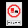 Verkeersbord RVV F03-xxx met ondertekst