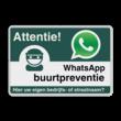 WhatsApp Attentie Buurtpreventie Informatiebord 01 - L209wa