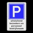 Parkeerbord RVV E04 + 3 regelige tekst - BT07