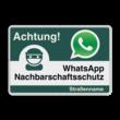 WhatsApp Achtung Nachbarschaftsschutz Verkehrsschild