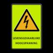 Veiligheidspictogram - Waarschuwing Elektrische spanning W012 + eigen tekst