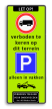 Verkeersbord  400x1000mm et-C07-3txt-E04-1txt-wsr-vt