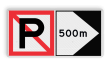Scheepvaartbord BPR A. 5 + F.2a - Verboden ligplaats te nemen (ankeren en meren) aan de zijde van de pijl