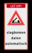 Verkeersbord RVV J15 - Beweegbare Brug + banner + eigen tekst