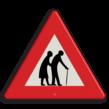 Verkeersbord RVV J21-ouderen