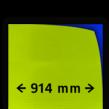 Reflecterende folie kl.3  geel/groen  FLUOR 914mm breed