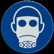 Gebodsbord M017 - Ademhalingsbescherming verplicht
