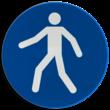 Gebodsbord M024 - Verplicht looppad of oversteekplaats voor voetgangers