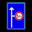 Informatie-, routebord blauw/wit + RVV C21
