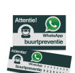 WhatsApp Buurtpreventie Reflecterende stickers ( set 10 stuks ) - L209wa