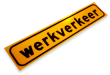 Sticker 500x100mm reflex FLUOR Werkverkeer