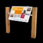 Montageframe houten staanders - voor informatiebord natuurgebied