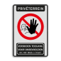 Bord Privéterrein verboden toegang artikel 461