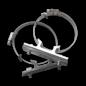 Bordbeugelset VARIABEL - RVS klemband (set 2 stuks)