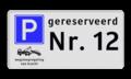 Verkeersteken - Pictogram - Tekstregels