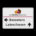 Entree - routebord - links + logo