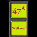 Huisnummerbord Klassiek + tekst