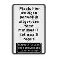8 tekstregels + pictogram
