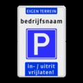 Koptekst - 2 tekstregels - Verkeersteken - Ondertekst