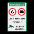 Koptekst + 2x Verkeersteken + 2 tekstregels + Ondertekst