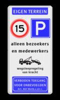 Koptekst + 2x Verkeersteken + Pictogram + 3 tekstregels + Ondertekst