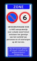 Koptekst + 2x Verkeersteken + 8 tekstregels + Ondertekst