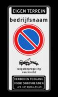 Koptekst + tekstregel + Verkeersteken + Pictogram + Ondertekst
