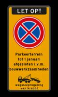 Koptekst + Verkeersteken + 5 Tekstregels + Onderbanner