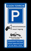Koptekst - Verkeersteken - (route) parkeren - pictogram - Onderbanner