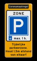 Aanhef + Parkeerbord + tekstvlak