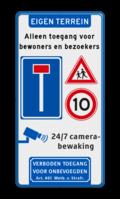 Koptekst - 3x Verkeersteken + banner + afsluiting