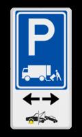Parkeerbord + icon + pictogram