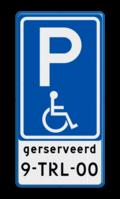 Verkeersteken gereserveerd kenteken