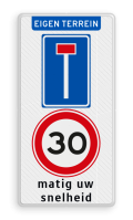 Koptekst - 2x Verkeersteken + ondertekst