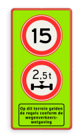 2x Verkeersteken + Pictogram