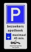 Verkeersteken - 3 tekstregels - betaald parkeren- Ondertekst